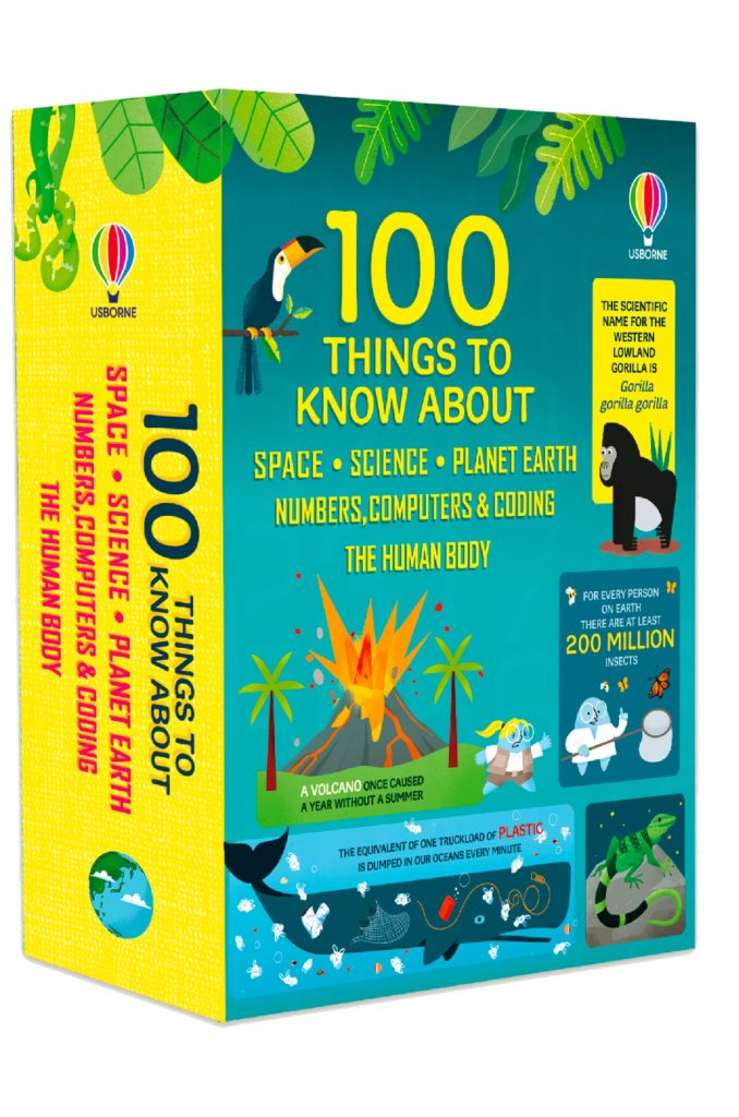 100 Things to Know About space Science planet earth numbers computers coding human body books review